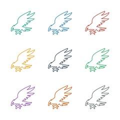 eagle icon white background