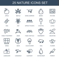 25 nature icons