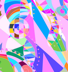 colored background image of the abstract pink clutter