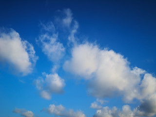 Blue sky with tiny clouds background.