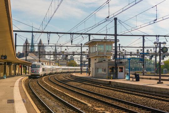 Train station in Dijon, France.