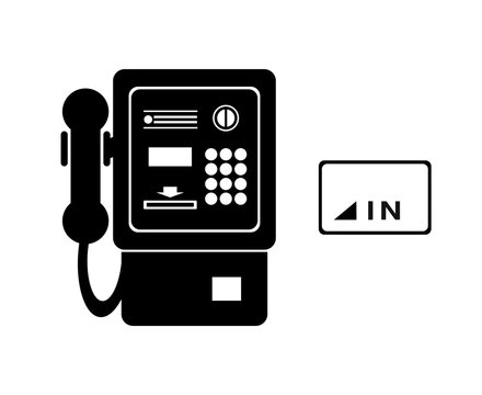 公衆電話とカード