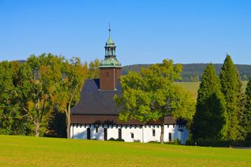 Lauterbach Wehrkirche im Erzgebirge - fortified church in Lauterbach in the Erzgebirge