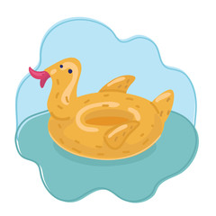 Duck ring inflatable rubber.