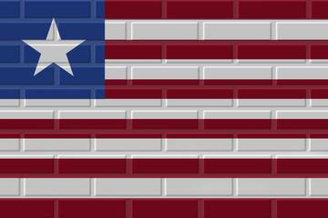 Liberia brick flag illustration