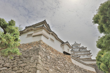 The castle tower of Himeji Castle japan