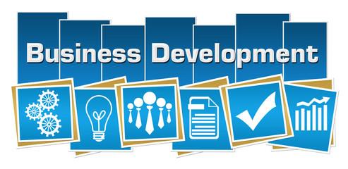 Business Development Business Symbols Blue Squares Stripes