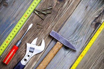 still life with vintage locksmith tools