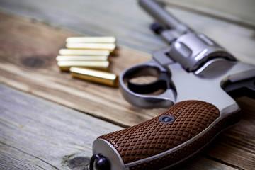 vintage revolver nagant