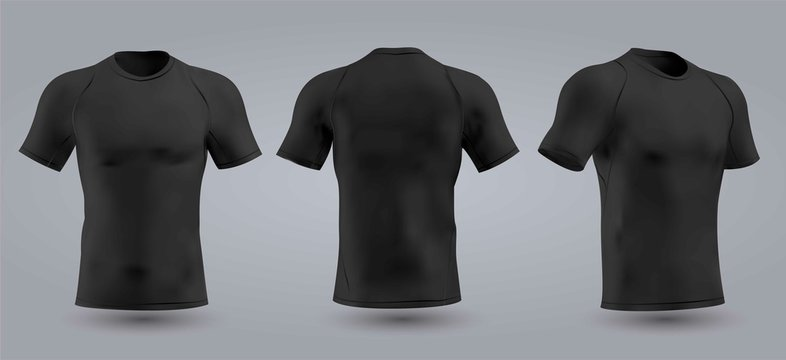 Soccer black t-shirt design slim-fitting with round neck. Vector illustration