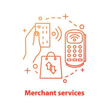 Merchant services concept icon