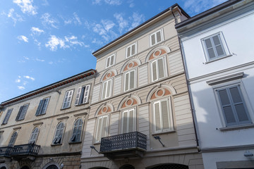 Vigevano, italy: historic buildings