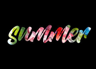 Water color text illustration