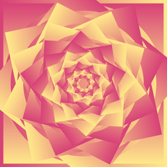 Abstract image , yellow red pattern rose.