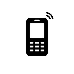 Mobile phone icon on white background