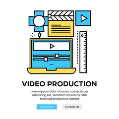 VIDEO PRODUCTION BANNER CONCEPT