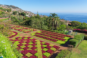 View over Jardim Botanico garden on Portuguese island of Madeira
