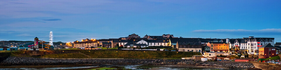 Famous touristic town Bundoran in Donegal, Ireland