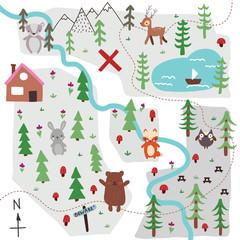 Doodle map illustration