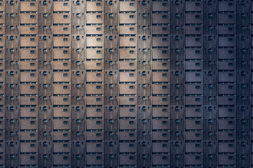 architectural pattern, prison like concrete facade of a miserable house
