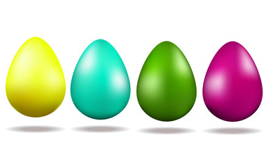 Set of Easter multicoloured eggs. Holiday. Traditions. Easter.
