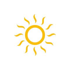 Sun symbols vector icon