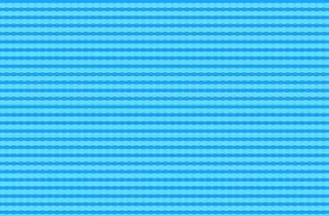 Bright blue abstract repeating wavy stripes pattern