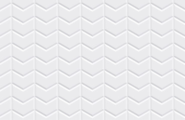 White seamless tiles texture. Modern volumetric pattern. Vector illustration