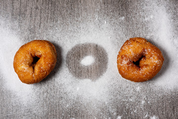 homemade rosquillas, typical spanish donuts