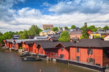 Historical part of Porvoo, Finland