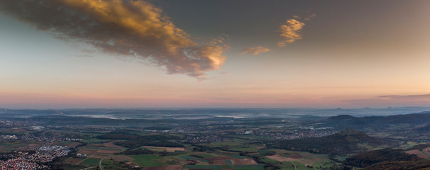 Sonnenuntergang - Luftaufnahme - Panorama
