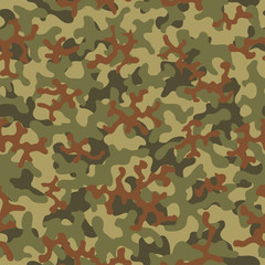 Camouflage fashion pattern seamless background. Abstract cool military texture trend shapes camouflage. Seamless pattern for children fashion cloth textile. Colorful modern style.