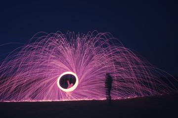 steel wool firework