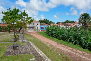 Traditional portuguese colonial architecture in Alcantara, Brazil