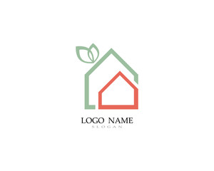 Home and building logo and symbol vector