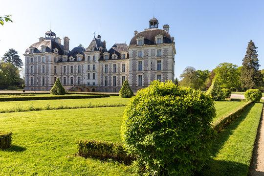 Garden And Castle Cheverny Loire Valley