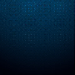 Blue poster with abstract geometric pattern.