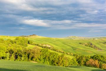 Italian rural landscape with farmland