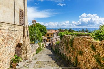 Cityscape view from an Italian city in Tuscany