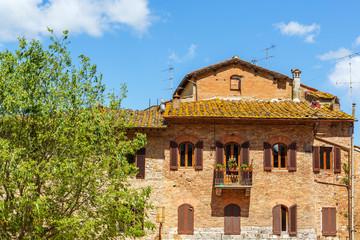 Italian residential house with a balcony
