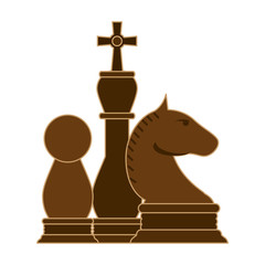 Chess pieces game cartoon