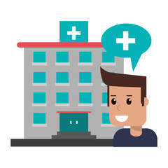patientin hospital building symbol
