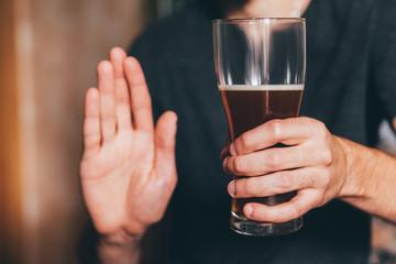 man shows no alcohol