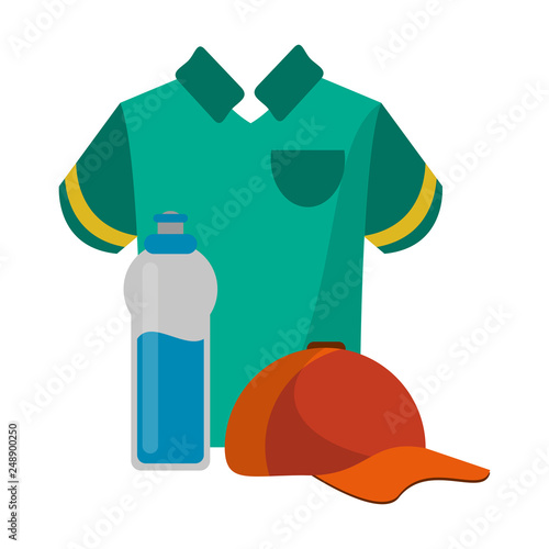 ed2e4dc9ae7 Sport golf tshirt hat and water bottle