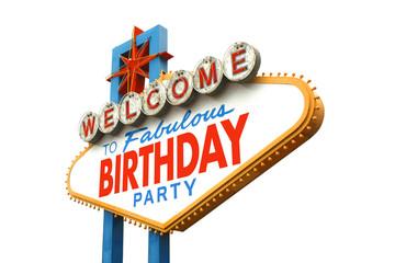 Aluminium Prints Las Vegas Welcome to fabulous Birthday party