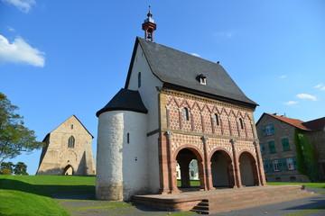 Die brühmte Königshalle (oder Torhalle) in Lorsch, Hessen, europäisches Weltkulturerbe aus dem neunten Jahrhundert