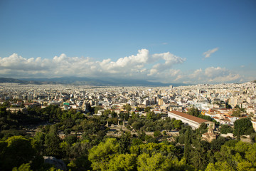 aerial urban photography of Athens - capital of Greece in south Europe
