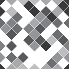seamless pattern with oblique gray squares