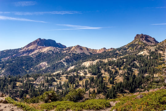 Mount Diller and the brokeoff mountain, Lassen Volcanic National Park