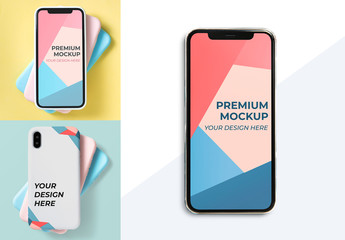Front and Back Phone Mockup